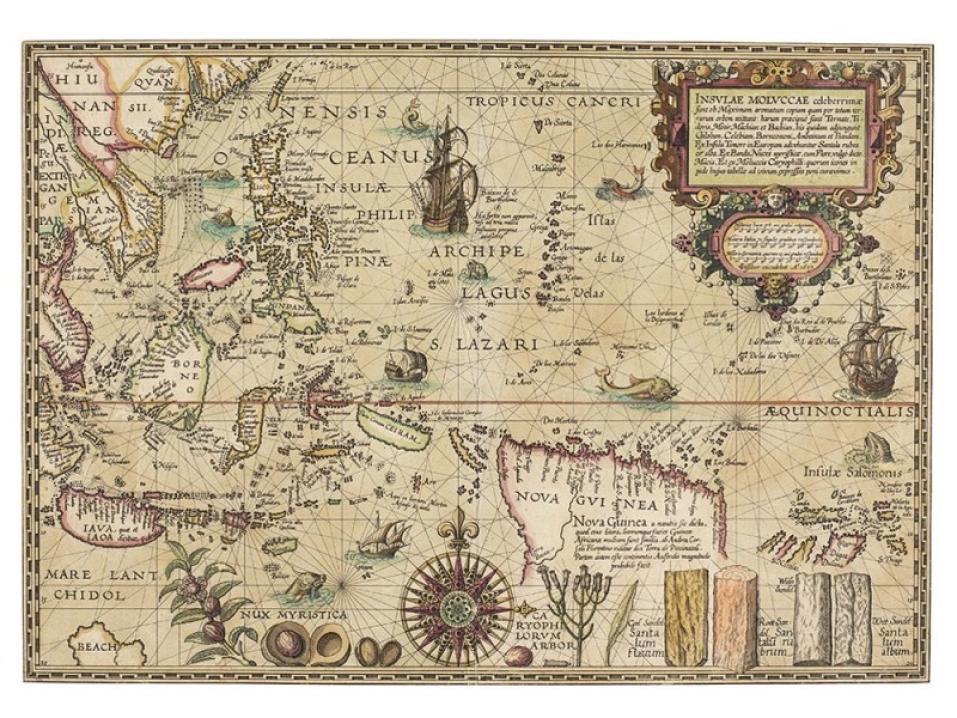 历史上最著名的地图之摩鹿加群岛地图