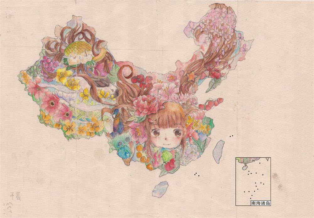 少儿手绘地图欣赏《美丽自然中的中国》