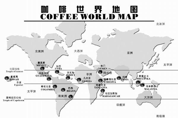 """亚洲的印度尼西亚也是咖啡生产大国,其爪哇岛上出产的阿拉比卡品种"""""""