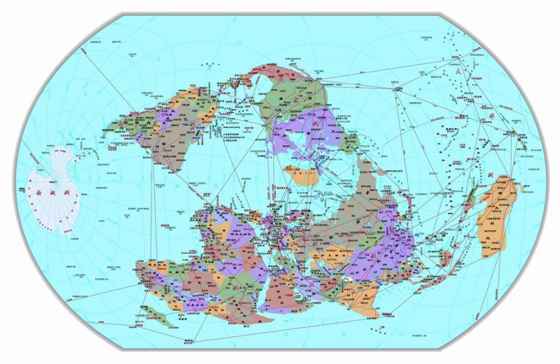 话题:竖版世界地图
