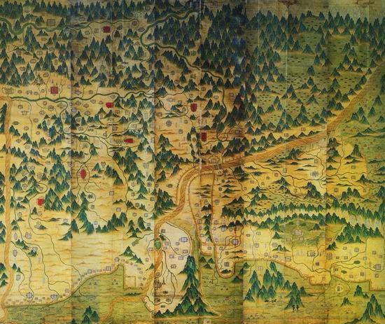 古地图欣赏#——郑和航海图