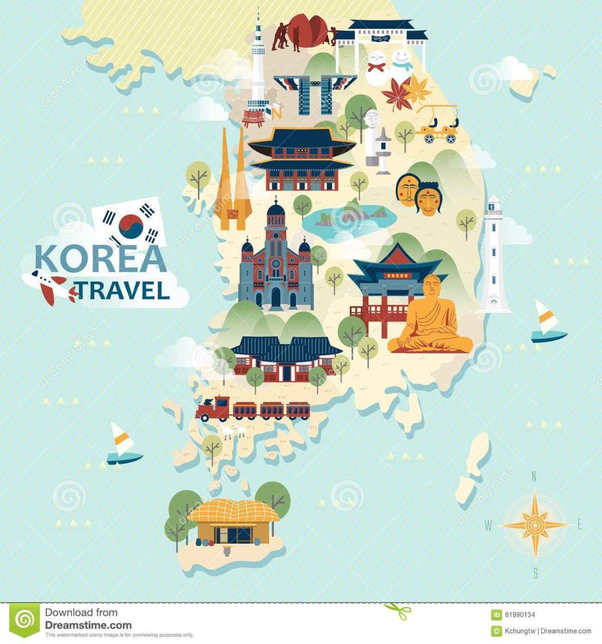 趣味地图#卡通版韩国地图 近 - 地图慧社区 - 看地图